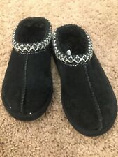 UGGS KIDS YOUTH SUEDE/ BLACK CLOGS SLIPPERS, UNISEX GIRLS/BOYS USA sz11