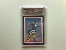 Greg Maddux 1988 Topps Certified Authentic Auto Autograph