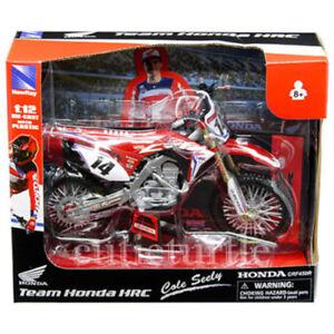 New Ray Team Honda HRC CRF 450R Dirt Bike 1:12 Motorcycle 57933 #14 Cole Seely