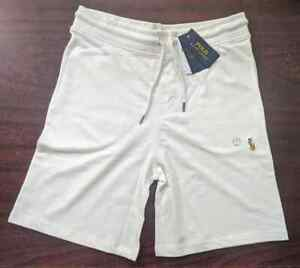 "NWT Polo Ralph Lauren  Men  9.5"" Sweat Terry Cotton Shorts Black Navy White"