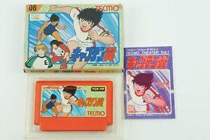 Captain Tsubasa 1 NES Tecmo Nintendo Famicom Box From Japan