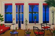 "FANCH LEDAN ""BALCONY OVER BAHIA"" Hand Signed Serigraph on Canvas"