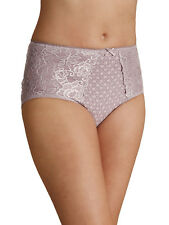 M & S sze 12 Lace Panel slimming control knickers shaping full briefs pink/beige