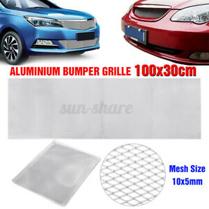 100x33cm Aluminium Car Bumper Grille Grill Mesh Net Vent 10x5mm Hole Silve