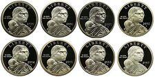 2000-2007 S Complete Set Sacagawea Dollars Gem Proof Run 8 Coins US Mint 2000's