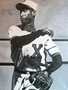THE IMMORTAL Martin Dihigo negro baseball leagues art original 24x18in painting