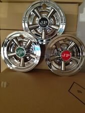 GOLF CART HUB CAPS CHROME WHEEL COVERS RED,GREEN OR BLACK CENTER CAPS REG $38.00