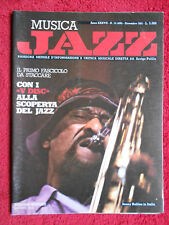 Rivista MUSICA JAZZ 12/1981 POSTER ARMSTRONG Sonny Rollins Miles Coltrane No cd