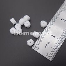 50PCS 0.5M Plastic Spur Gear 0.5 Modulus T=14 Aperture 2mm 14T2A 14 Teeth 5X8MM