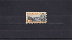 Ascension Is 1940 1d black/orange Green Mountain p 13½ Mint Hinged. SG 39a