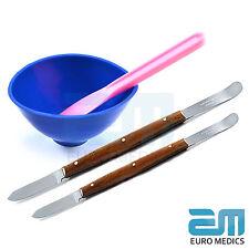 Juego de 4 Cera y Modelización Espátula Mezcladora técnico de laboratorio talla de las herramientas de dentista
