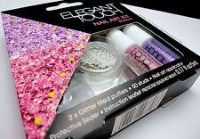 ELEGANT TOUCH nail art kit in rosalia 50 studs glitter puffers protective sealer