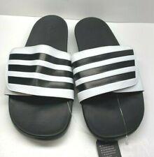 Adidas Size 9 Black Slides Sandals New Mens Shoes