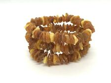 Lot 3 Natural Baltic Amber Raw rough unpolished healing bracelet set 34 g #3128