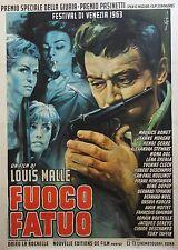 """""""LE FEU FOLLET"""" Affiche originale italienne entoilée Louis MALLE / Maurice RONET"""