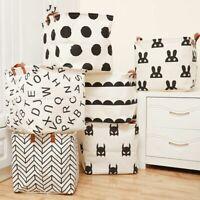 Cube Folding Laundry Basket For Kids Toy Storage Sundries Books Lego Organizer