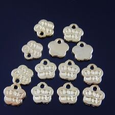 25pcs 8*8mm Gold Tone Alloy Hand Made Flower Charm Pendant Jewelry Finding Hot