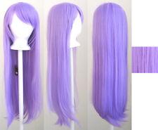 32'' Long Straight Long Bangs Lavender Purple Cosplay Wig