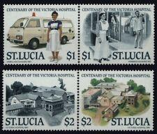 St. Lucia 1987 - Mi-Nr. 899-902 ** - MNH - Krankenhaus / Hospital (II)