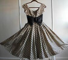 Mam 'selle por Betty Carol Original 1950s Vintage Vestido Falda Completa Tamaño Junior