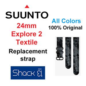 SUUNTO 24mm Explore 2 Textile Size M+L STRAP BAND 100% Original ALL COLORS - NEW