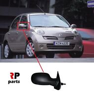 FOR NISSAN MICRA 2003 - 2009 NEW WING MIRROR MANUAL BLACK RIGHT O/S LHD
