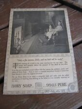 1915 Antique Vintage Advertising Clipping Ivory Soap 99 Pure