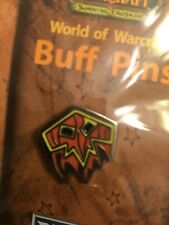 World Of Warcraft 2007 Blizzcon Buff Pin — Shaman BLOODLUST — Blizzard NIB