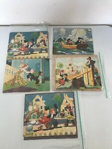 VINTAGE 1930'S LOT 5 JUST KIDS BRINGING UP FATHER JIGSAW PUZZLES KING FEATURES