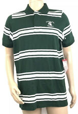 Antigua Mens Michigan State Spartans Striped Polo Shirt Large Short Sleeve NEW