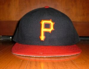 BRIAN GILES PITTSBURGH PIRATES GAME WORN USED ALTERNATE HAT (INDIANS PADRES)
