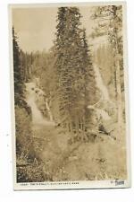 Glacier National Park, Montana, Twin Falls, RPPC, Hileman No. 1026  AZO