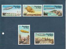 Niger poste aérienne  Zeppelins   1976   num:  268/72  **