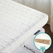Inofia Mattress Topper, ECOGRREN 6CM Memory Foam Mattress Topper with Washable