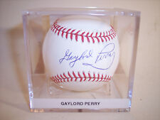 Gaylord Perry Giants Indians HOF Signed OML Baseball - JSA COA