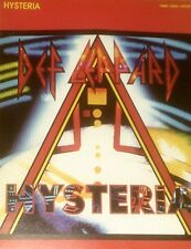 """""""DEF LEPPARD-HYSTERIA"""" PIANO/VOCAL/GUITAR SHEET MUSIC-1987-VERY RARE-NEW ON SALE"""