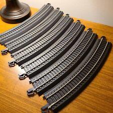 """Bachmann HO Scale EZ Track #44401 18"""" Curve Radius Pieces (6)"""