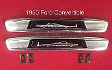 1950 Ford Shoebox Convertible Door Garnish Molding Emblems