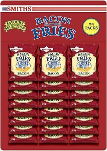 Smiths Savoury Snacks Bacon Fries Carded Pub Favourites Snacks, 24 g Pack of 24
