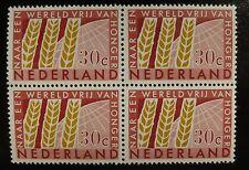 Plaatfout mooie RAKELSTREEP in 785 Postfris in BLOK van 4