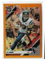 2019 Donruss Optic Football Orange Refractor #40 JJ Watt 055/199 Houston Texans