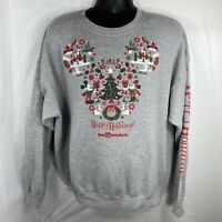 Disney Parks Holiday Sweatshirt Unisex XL Mickey Mouse Christmas Winter Resort
