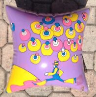 NOS Vintage 60s Peter Max Giant Step Apollo 11 Inflatable Vinyl Pillow Perwinkle