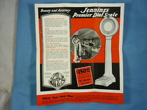 Jennings Coin Operated Lollipop Penny Scale Ad Card 1920's Chicago Illinois