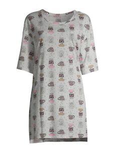 Secret Treasures Size S-M Women's Coffee SleepShirt Night Shirt