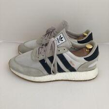 Adidas Iniki Boost US10 White/Gum/Blue Rare