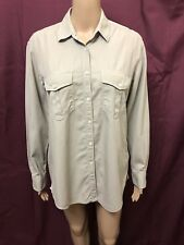 JAC + JACK SHIRT WOMENS ~ SIZE SMALL ~ GREAT COND LONG SLEEVES POLO TOP BLOUSE