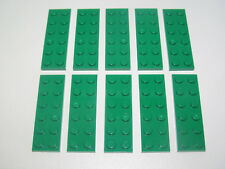 Lego ® Lot x10 Plaques Double Vert 2x6 Plate Green ref 3795 NEW