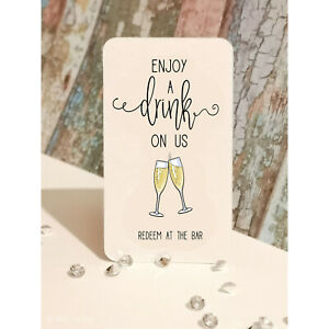 Luxury Drink Tokens | Top Quality Card | 4 Designs | Free Drink Tokens