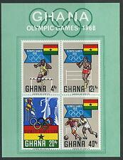 GHANA - Jeux d'été, MEXIQUE BLOC 33 NEUF 1969 mi.n ° 351-354